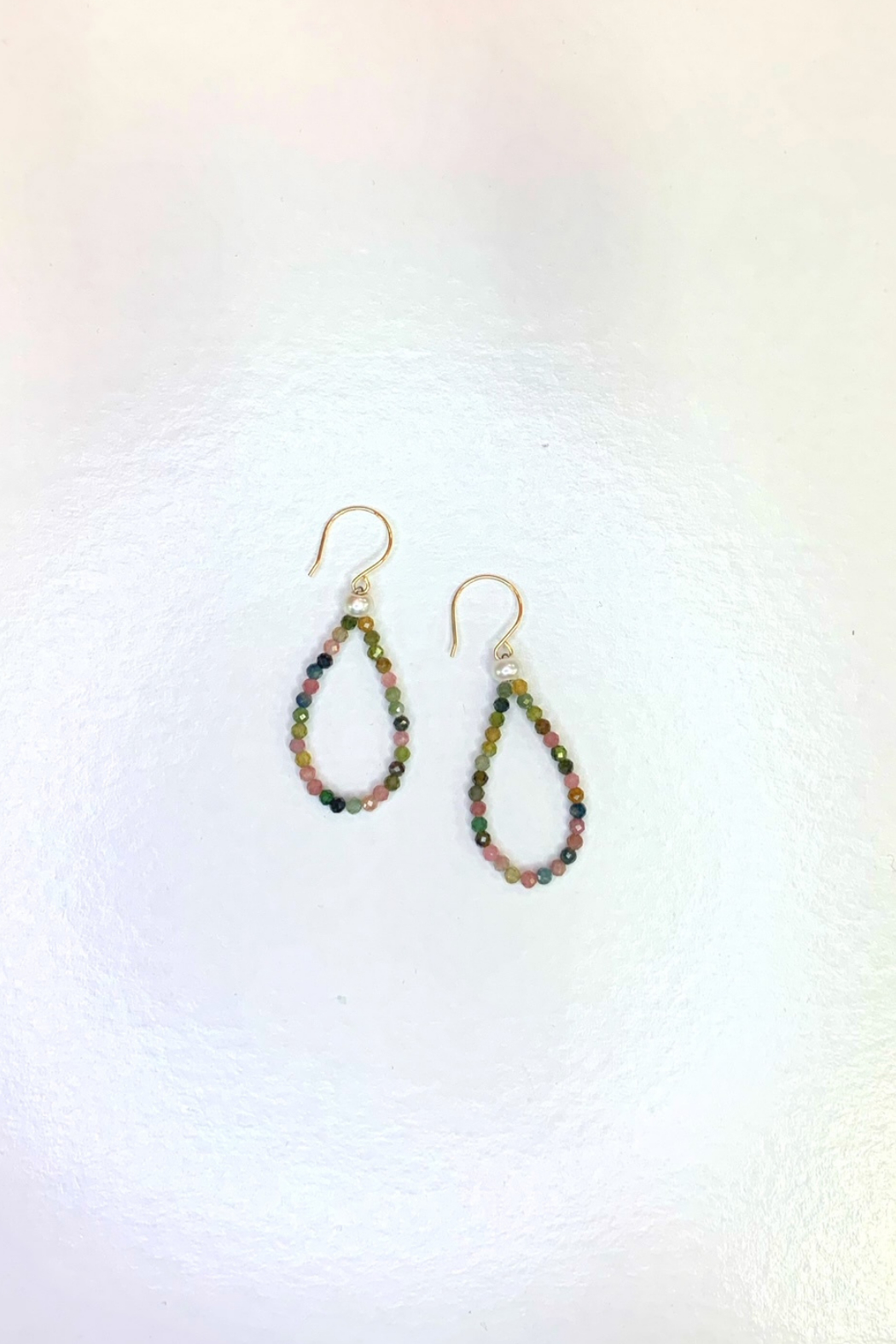 hila. Mirco Elevate Beaded Earring w Pearl - Front Cropped Image