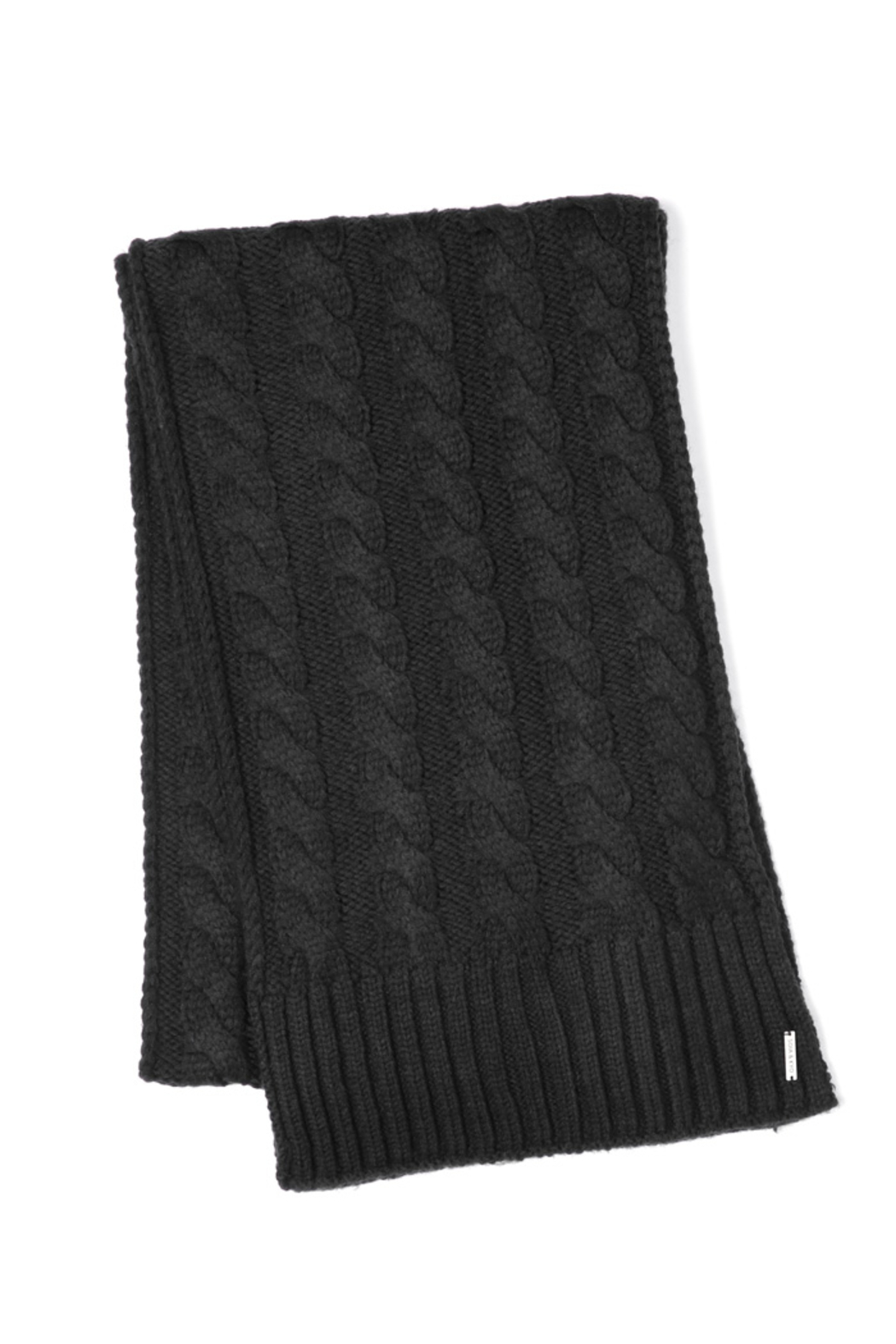 Soia & Kyo MIRI CABLE KNIT SCARF - Front Full Image