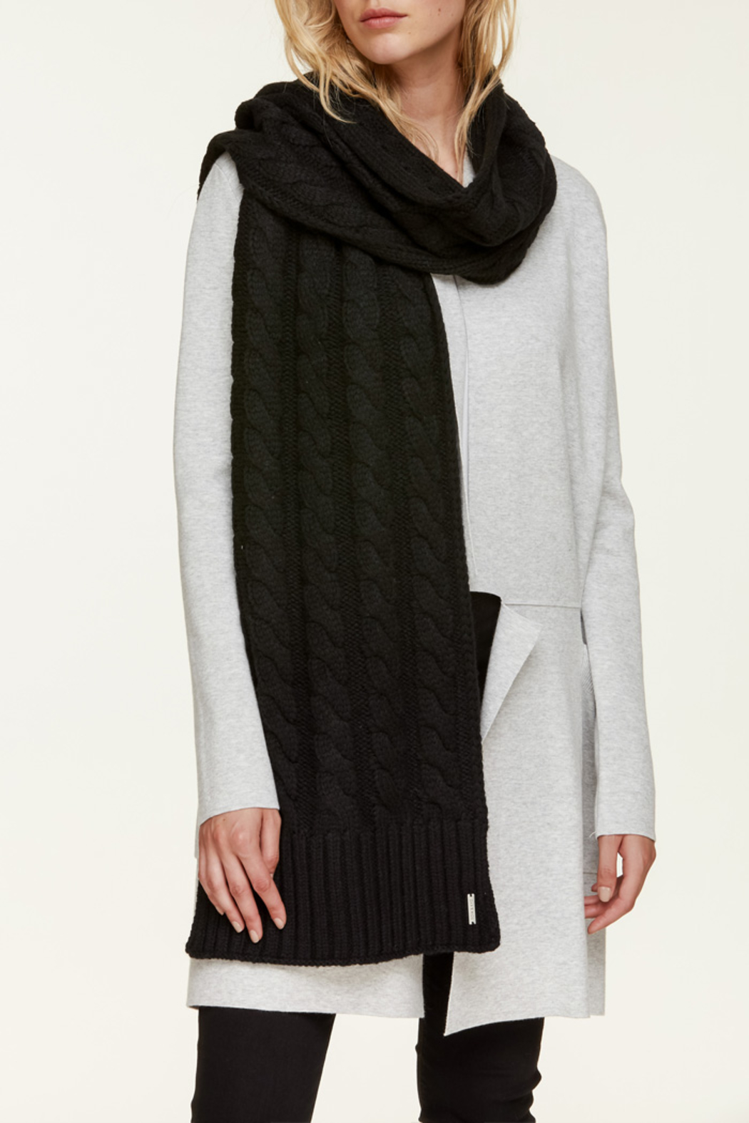 Soia & Kyo MIRI CABLE KNIT SCARF - Front Cropped Image