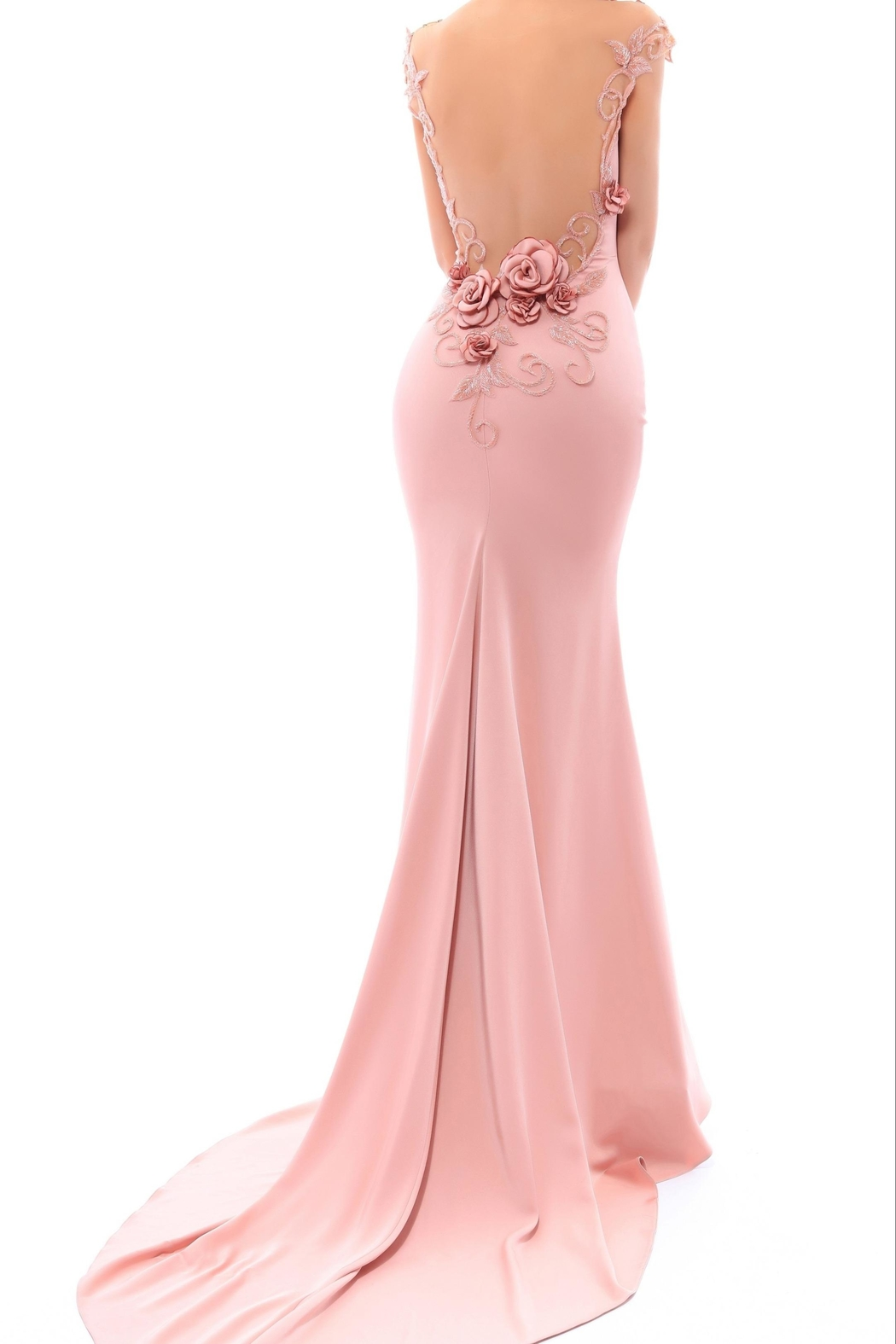 Tarik Ediz Mirriam Gown - Side Cropped Image