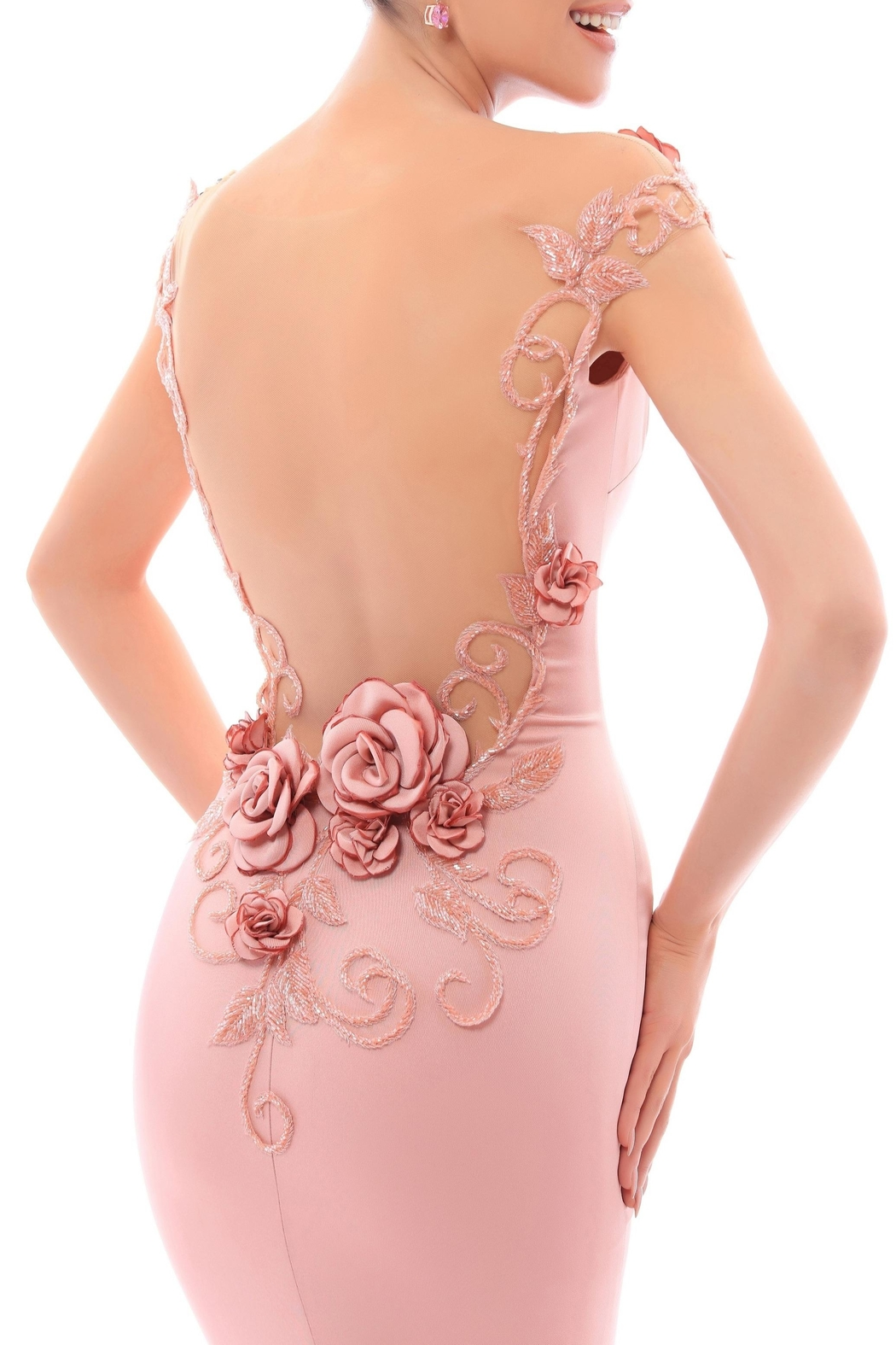 Tarik Ediz Mirriam Gown - Front Full Image