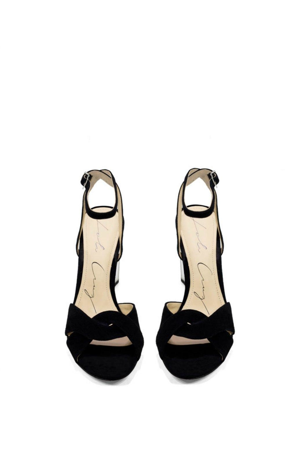 Lola Cruz Mirror Heel Sandals - Side Cropped Image