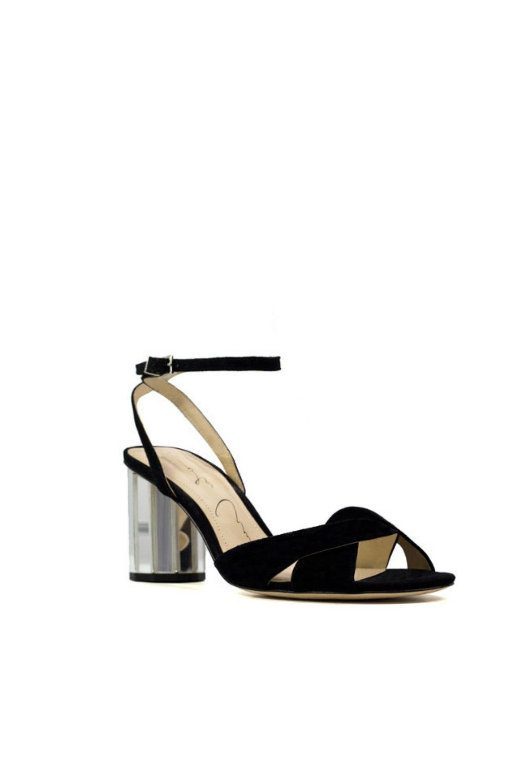 Lola Cruz Mirror Heel Sandals - Front Full Image