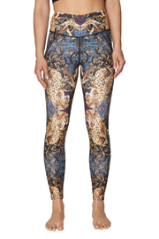 Betsey Johnson Mirrored Animal Print Hi Rise Ankle Legging - Product Mini Image