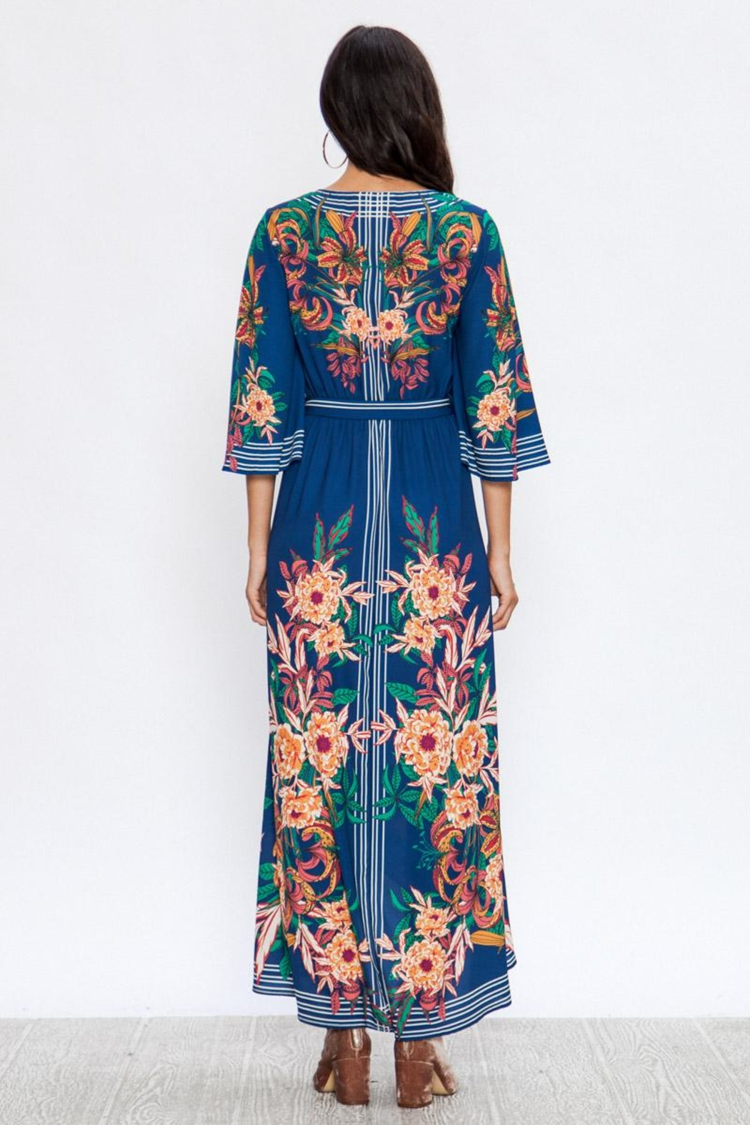 A. Calin Floral Maxi Dress - Back Cropped Image
