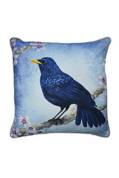 Shoptiques Product: Throw Pillow: Blue-Whistling-Thrush