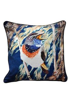 Shoptiques Product: Throw Pillow: Bluethroat