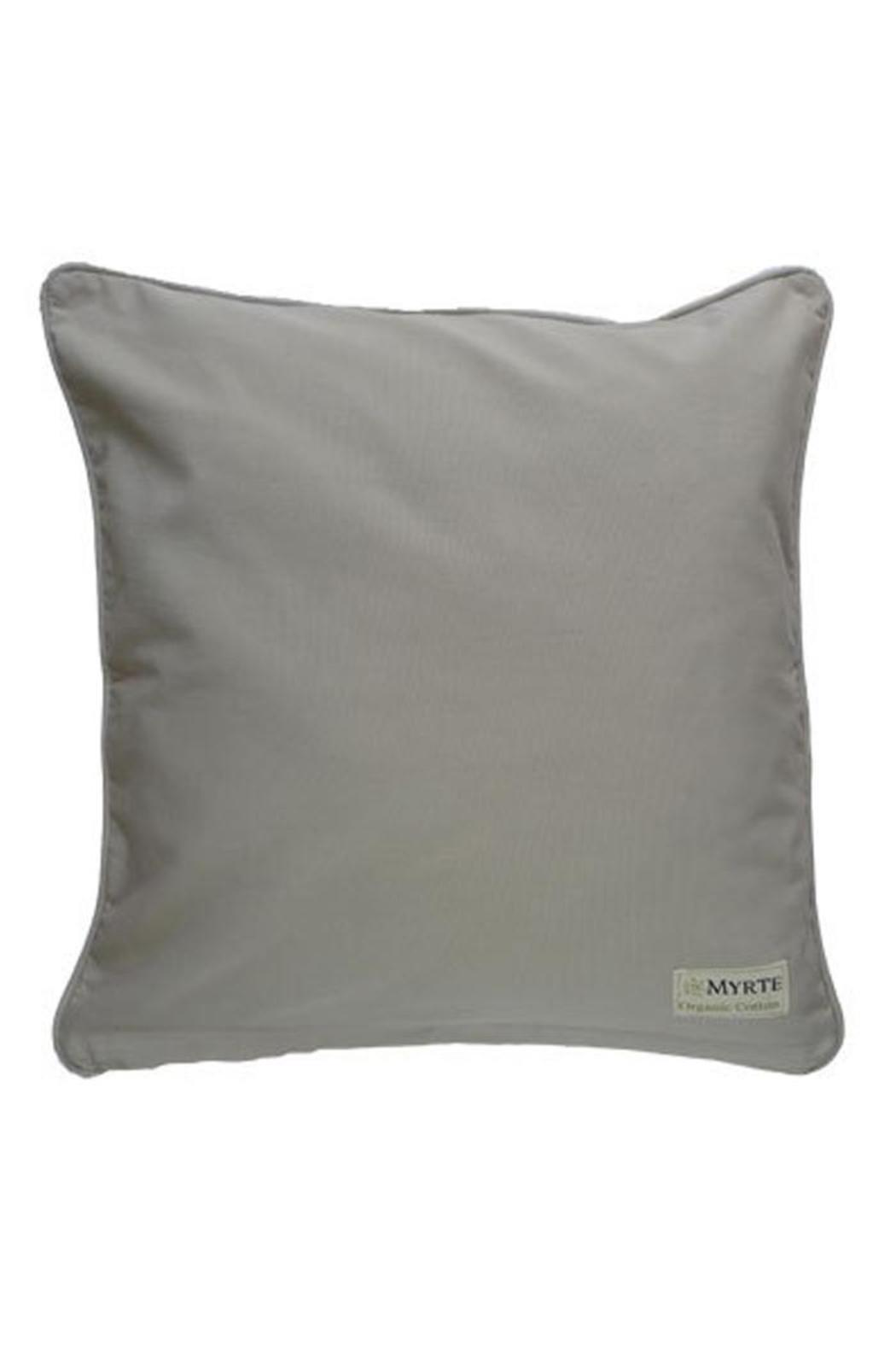 Mirthquake Throw Pillow: Cedar-Waxwing - Front Full Image