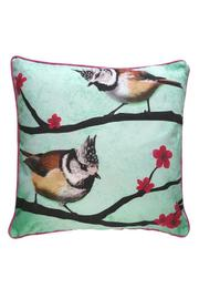 Mirthquake Throw Pillow: Crested-Titmouse - Product Mini Image
