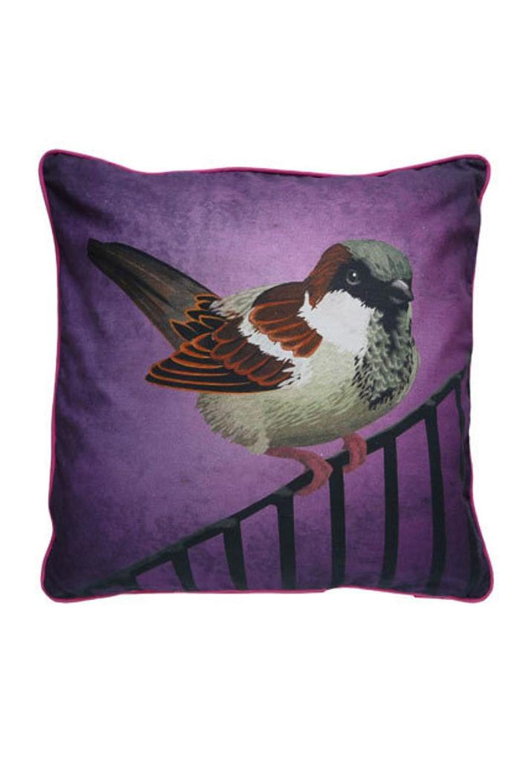Mirthquake Throw Pillow: Sparrow - Front Cropped Image
