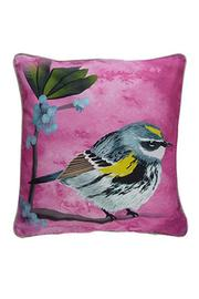 Mirthquake Yellow Rumped Warbler Pillow - Product Mini Image