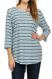 Cubism Mis-Matched Stripe Top - Product Mini Image