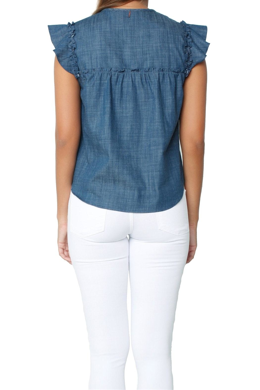 Misa Ale Top Indigo - Back Cropped Image