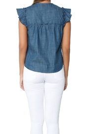 Misa Ale Top Indigo - Back cropped