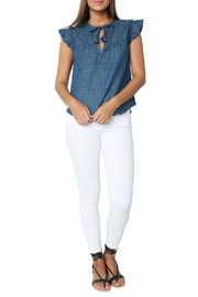 Misa Ale Top Indigo - Front full body