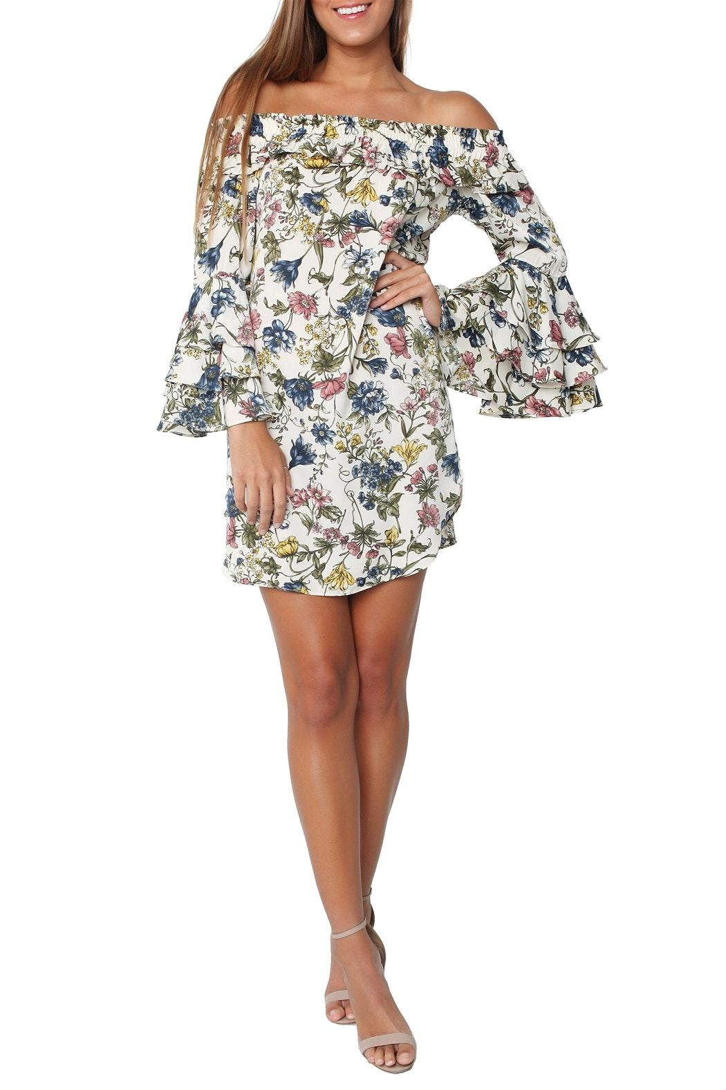 Misa Amal Floral Dress - Front Full Image