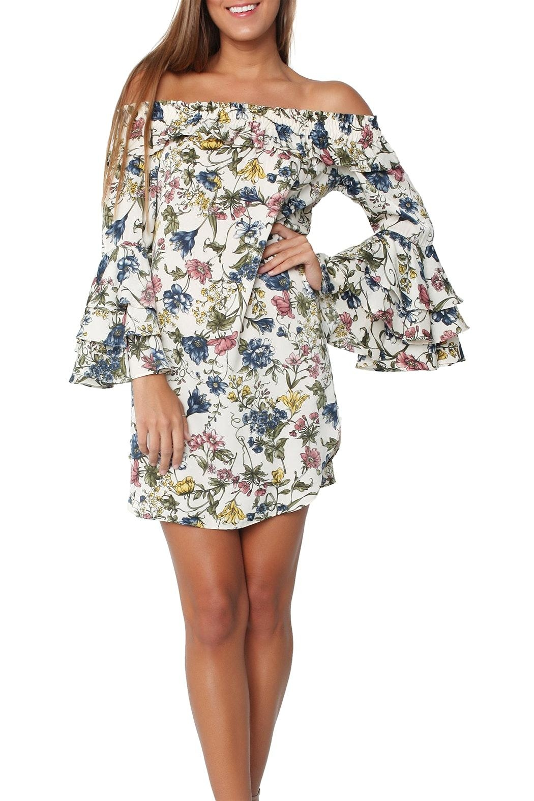 Misa Amal Floral Dress - Main Image