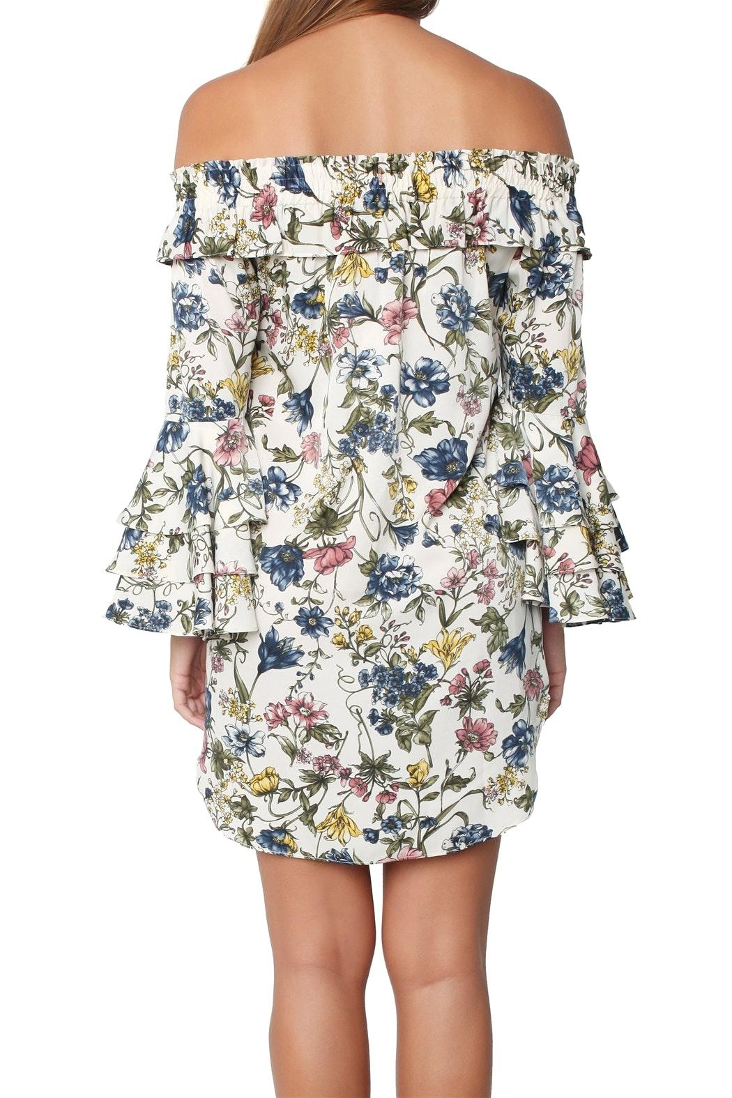 Misa Amal Floral Dress - Back Cropped Image