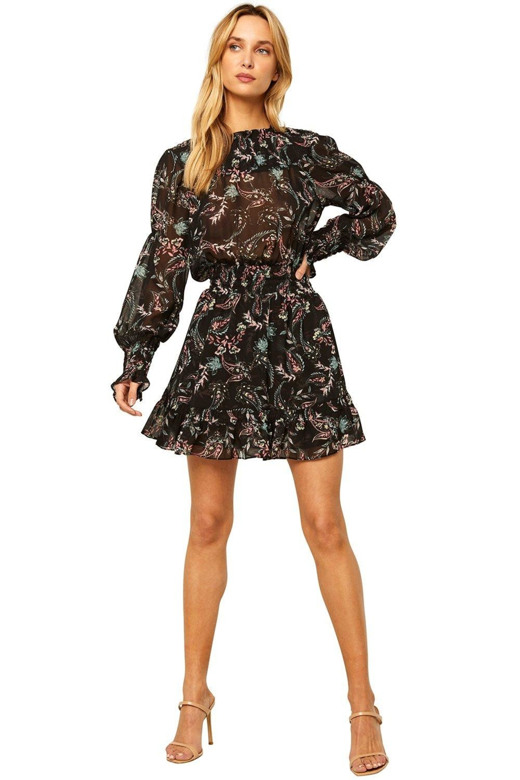 Misa Los Angeles Marin Dress In Enchanted Paisley - Side Cropped Image