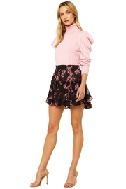 Misa Los Angeles Marion Skirt In Berry Floral - Product Mini Image