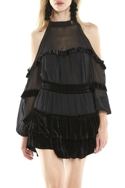 Misa Los Angeles Velvet Ruffle Top - Product Mini Image