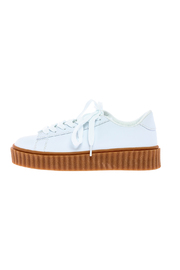 Misbehave White Platform Sneaker - Product Mini Image