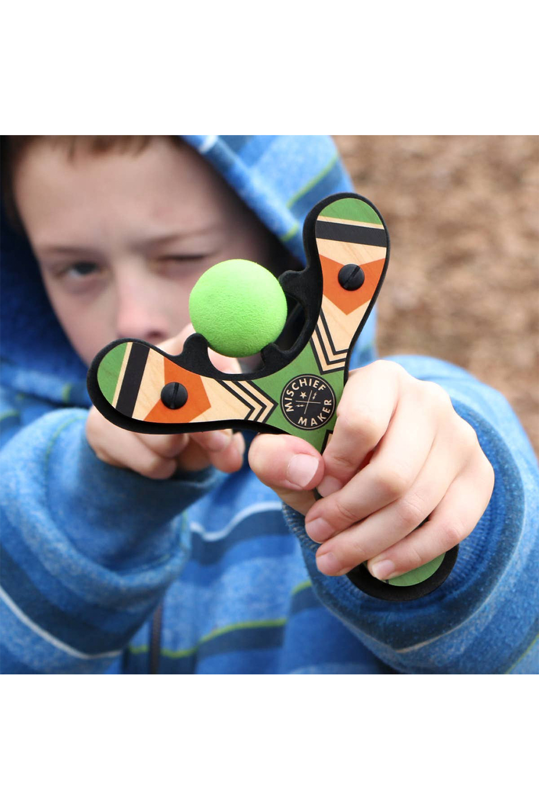Mighty Fun! Mischief Maker Slingshot - Front Full Image
