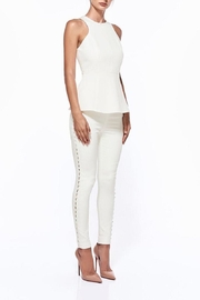 Misha collection  White Tapered Pant - Product Mini Image