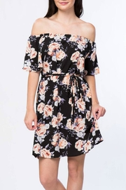 Misia Off Shoulder Tie Dress - Front cropped