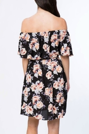Misia Off Shoulder Tie Dress - Side cropped