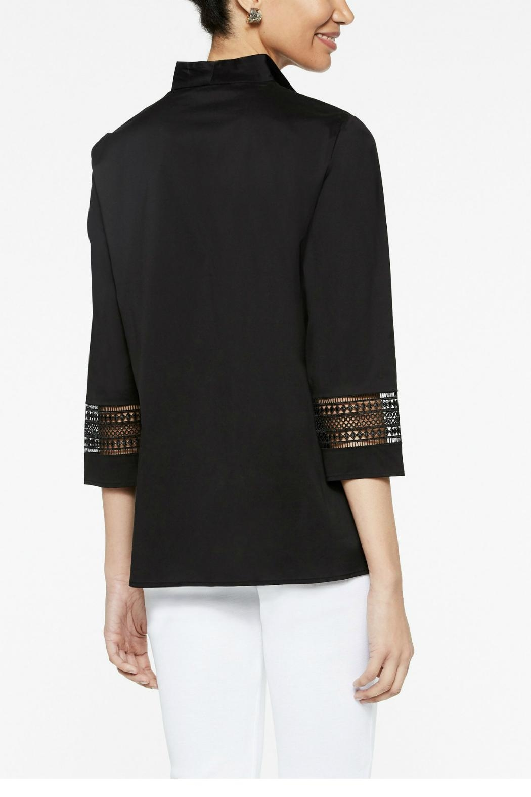 Misook Double Collar Blouse - Side Cropped Image