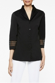 Misook Double Collar Blouse - Front cropped