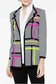 Misook Graphic Stripe Jacket - Front cropped