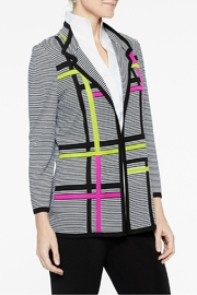 Misook Graphic Stripe Jacket - Front full body