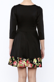 Miss 2 Day Black Floral Dress - Back cropped