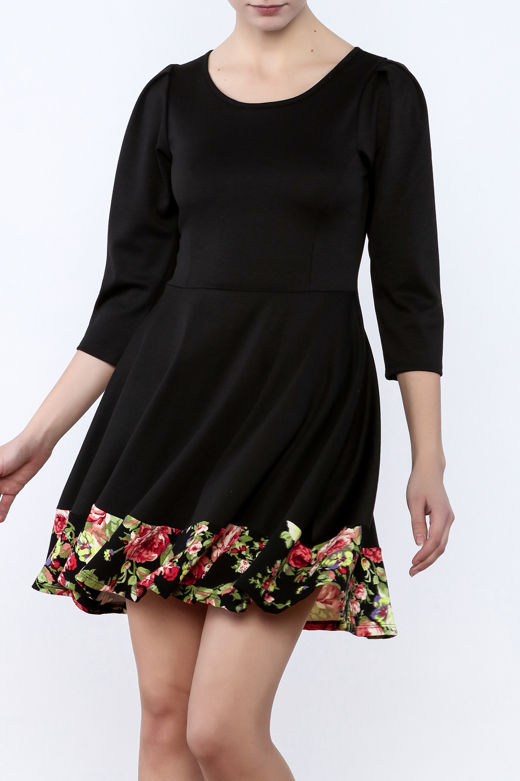 Miss 2 Day Black Floral Dress - Main Image