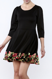 Miss 2 Day Black Floral Dress - Front cropped