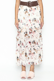 miss avenue  Belted Floral Skirt - Front full body