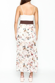 miss avenue  Belted Floral Skirt - Back cropped