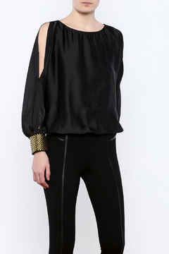 miss avenue  Gold Cuffed Top - Product List Image