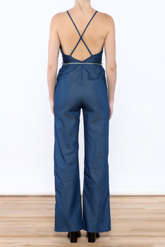 miss avenue  Denim Pompom Jumpsuit - Alternate List Image