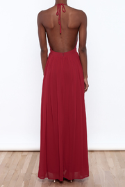 miss avenue  Evening Lace Halter Dress - Back cropped