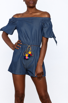miss avenue  Fun Denim Romper - Product List Image