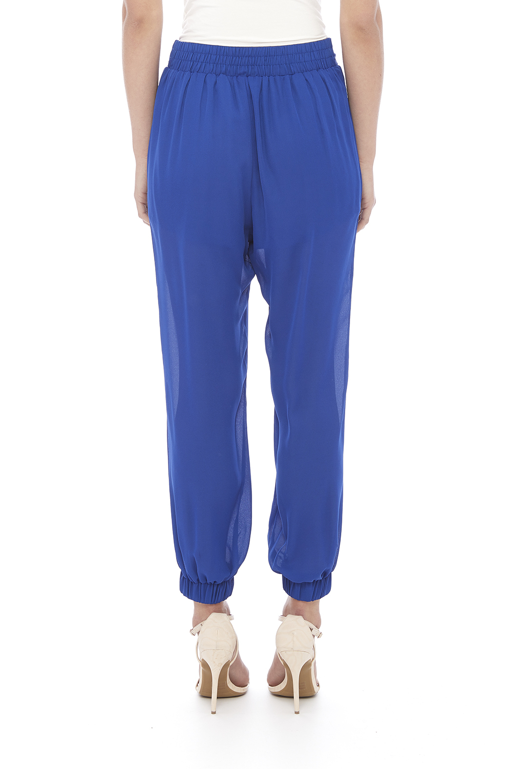 miss avenue  Lined Jogger Pants - Back Cropped Image