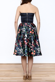 miss avenue  Strapless Floral Midi Dress - Back cropped