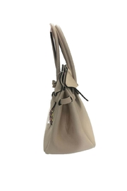 Save My Bag Miss Lycra Metallic Tote With Hand Painted Love Logo - Side cropped