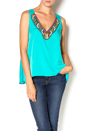 Miss Me Beaded V-Neck Top - Product Mini Image