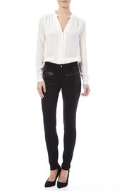 Miss Me Lace Up Detail Skinny Pants - Front full body