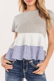 Miss Me Layered Up Ruffle Top - Product Mini Image