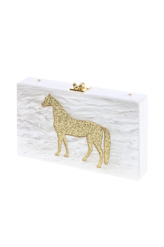 Shoptiques Product: Lucite Horse Clutch